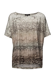 WOMENS OVERSIZE ANIMAL BLOUSE - SAND