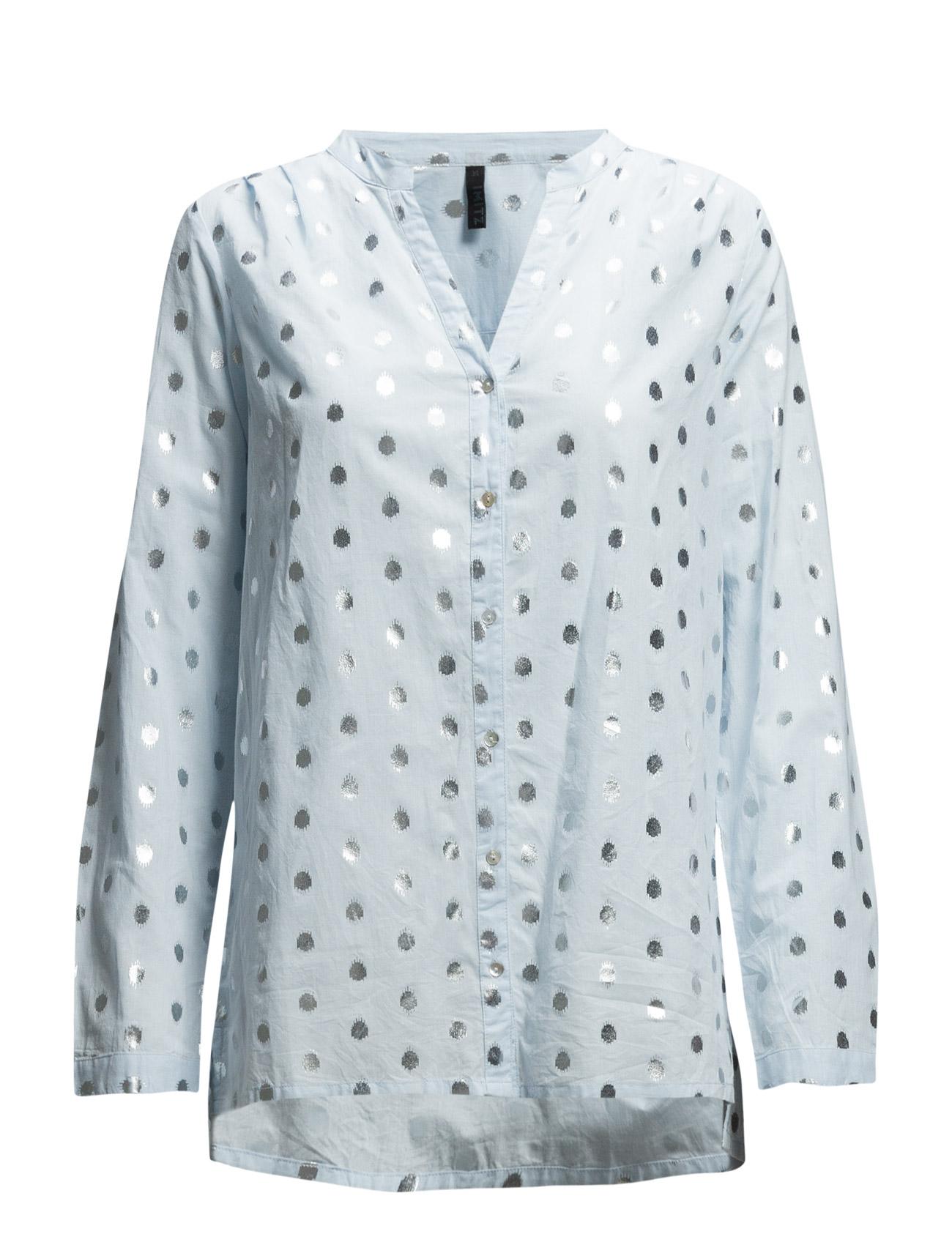 Skjorte Imitz Langærmede til Damer i Lyseblå