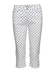 Capri pants - WHITE MIX
