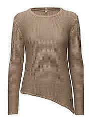 Pullover-knit Heavy - SMOKE SAND