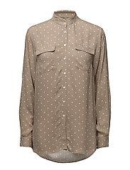Shirt l/s Woven - SMOKE SAND MIX