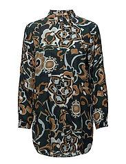 Shirt l/s Woven - PEACOCK MIX