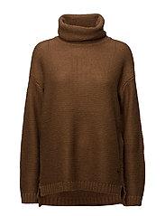 Pullover-knit Heavy - COGNAC