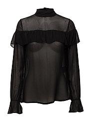 Blouse-woven - BLACK