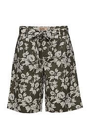 Casual shorts - ARMY LEAF MIX