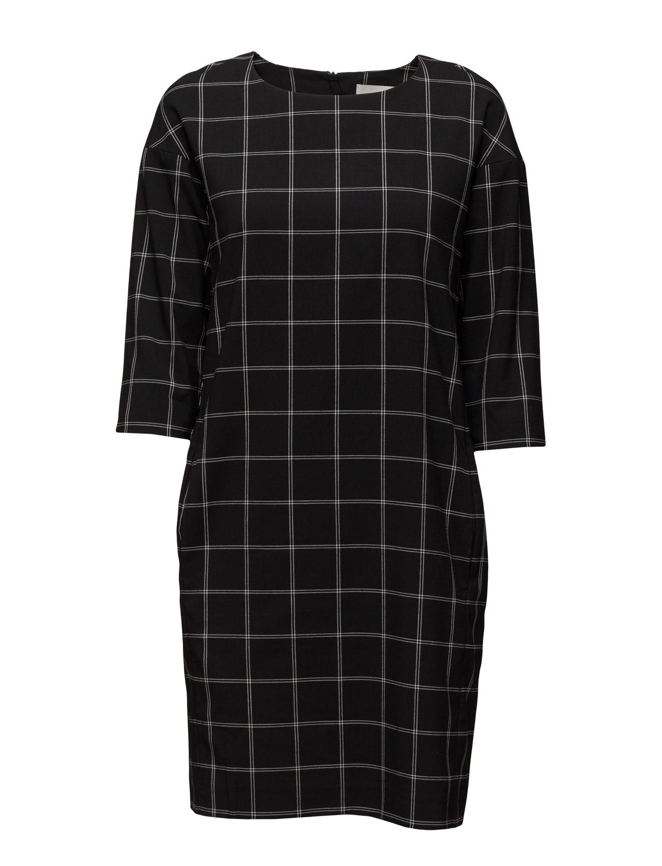 Cheque Dress Hw InWear Knælange & mellemlange til Kvinder i Sort