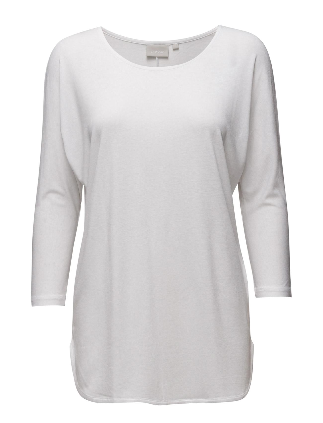 Tova 3/4 Sleeve InWear Langærmede til Damer i Pure White