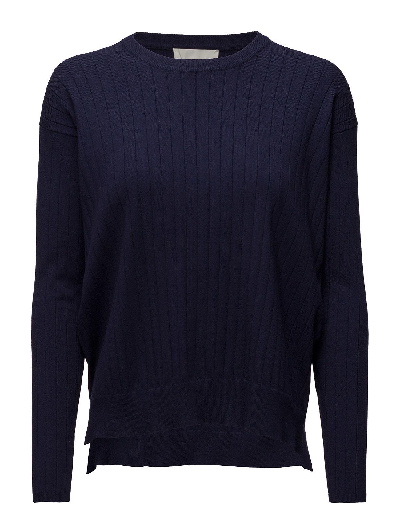 Yazz Pullover Knit InWear Sweatshirts til Damer i Midnight blå