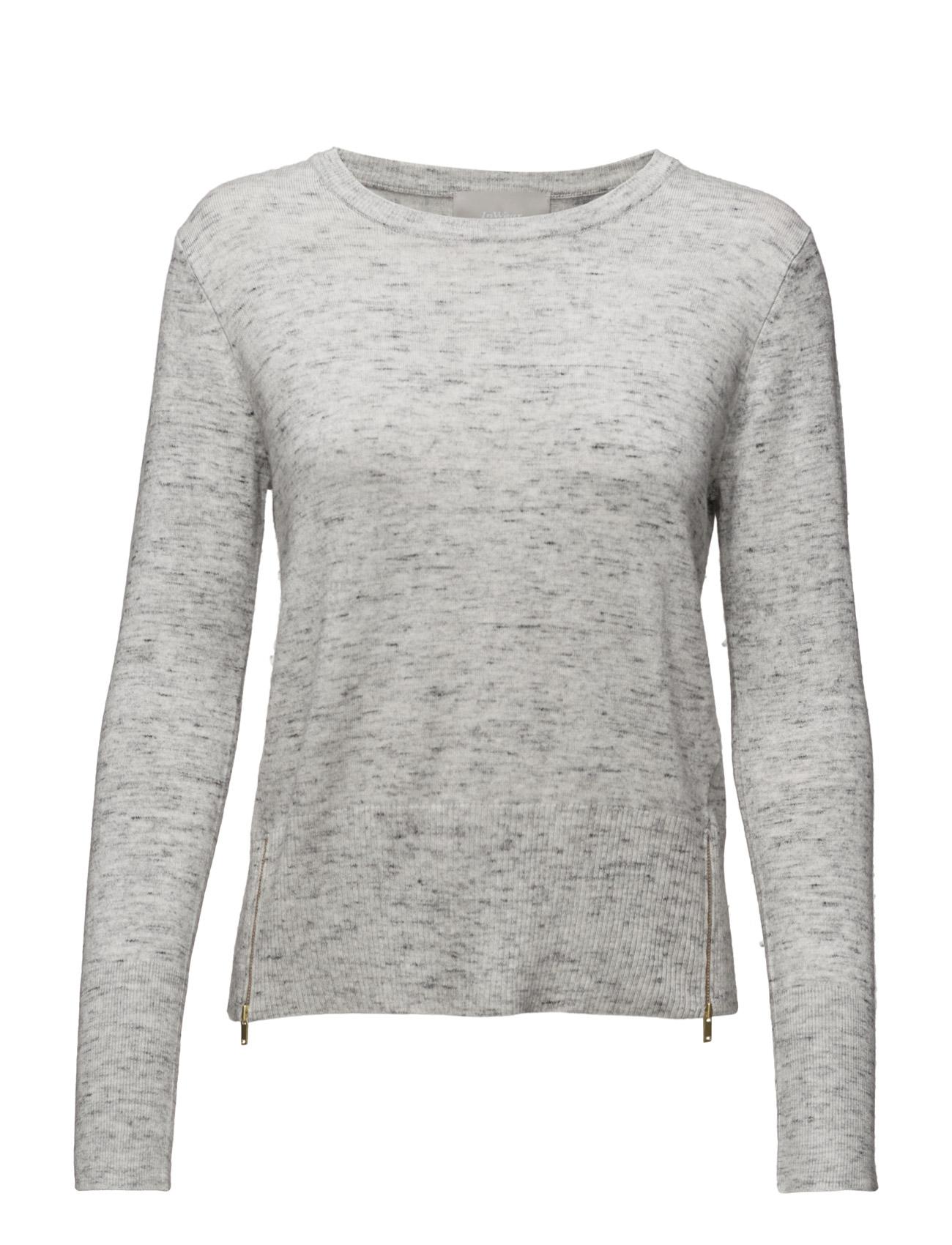 Unnur Yitta Pullover Knit InWear Sweatshirts til Damer i Light Grey Melange