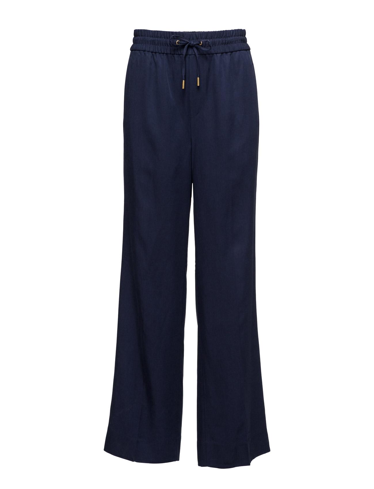 Zeta Long Pant Hw InWear Trompetbukser til Damer i Midnight blå