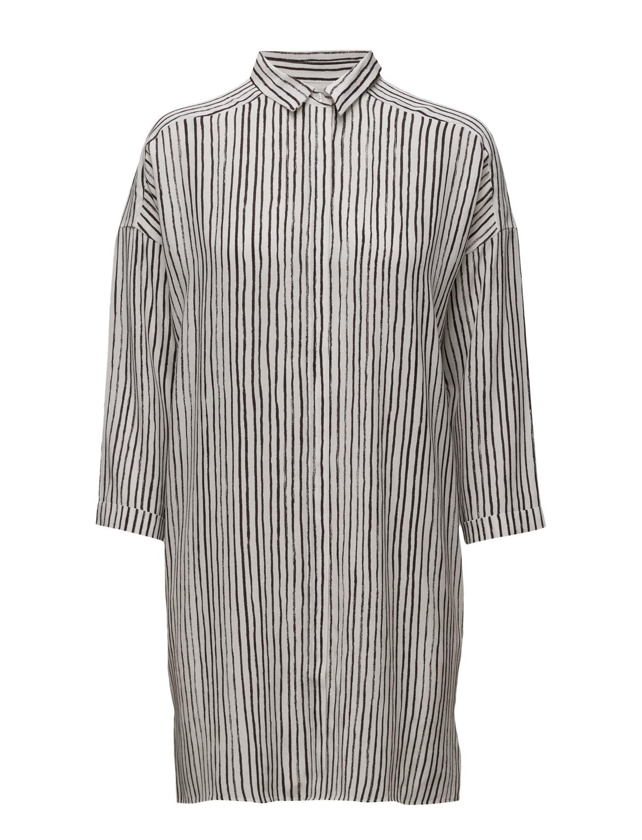 Galetta Long Shirt Lw InWear Langærmede til Kvinder i Hand Drawn Stripes Hvid