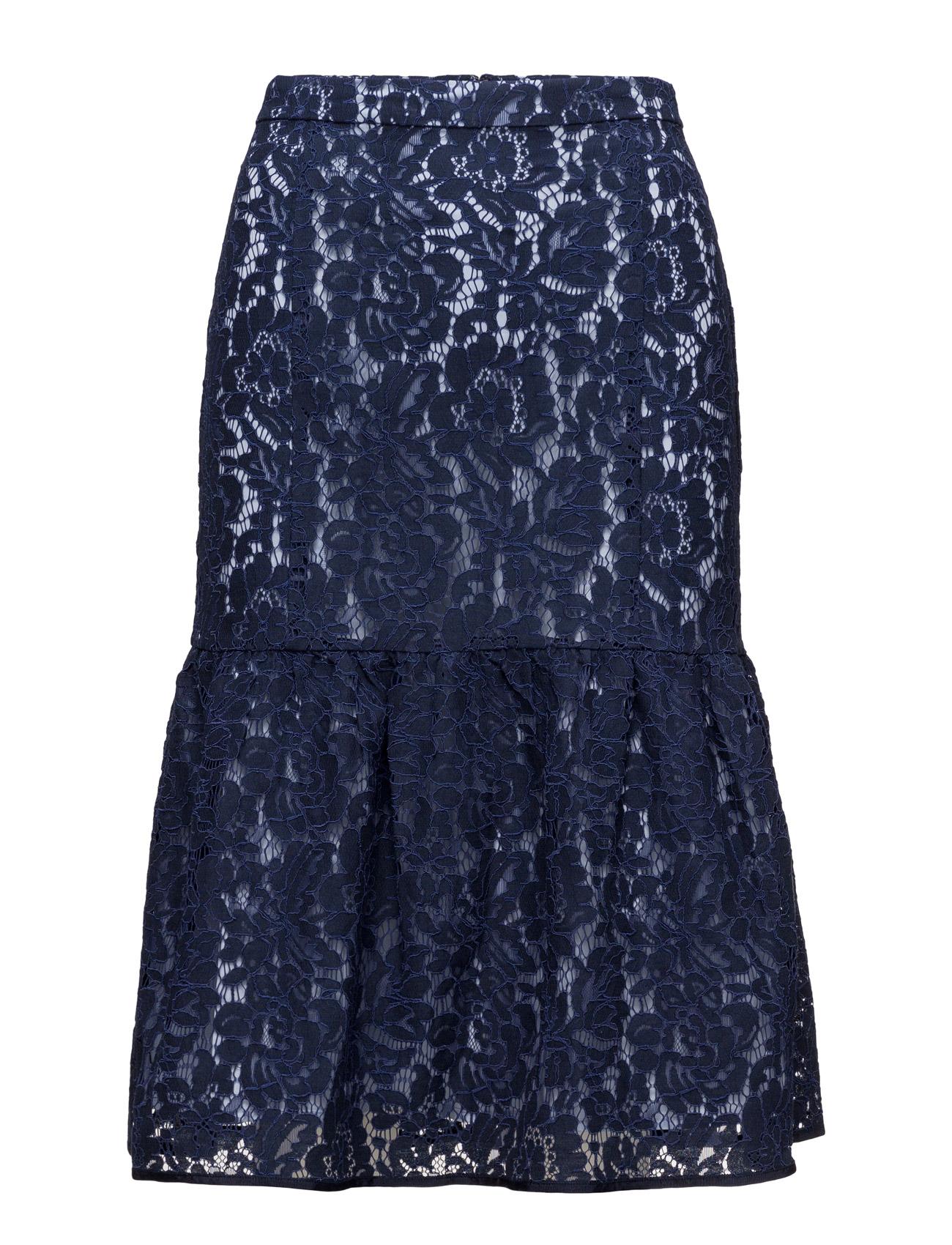 Ginny Lace Skirt Lw InWear Knælange & mellemlange til Damer i Midnight blå