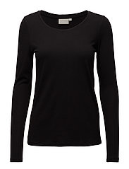 Rena LS Tshirt KNTG - BLACK