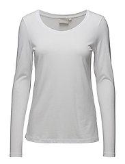 Rena LS Tshirt KNTG - PURE WHITE