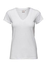 Rena V Tshirt KNTG - PURE WHITE
