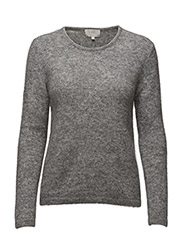 Tia Pullover KNIT - NEW LIGHT GREY MELANGE