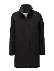 Verona Zip Coat OW - DARK GREY MELANGE
