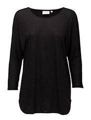 Tova 3/4 sleeve - BLACK