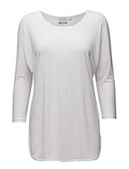 Tova 3/4 sleeve KNTG - PURE WHITE