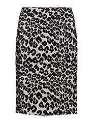 Zenia Skirt HW - MINI LEOPARD NON COLOR