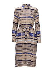Gia Dress LW - JAPANESE STRIPE BLUE