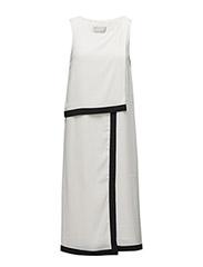 Zayda Fake Wrap Dress HW - WHITE SMOKE