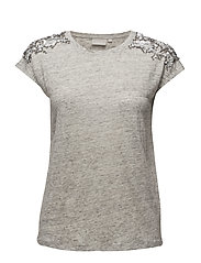 Carol Tshirt KNTG - LIGHT GREY MELANGE