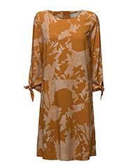 Blume Dress LW - STRUCTURE FLOWER HONEY GINGER
