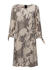 Blume Dress LW - STRUCTURE FLOWER BLACK