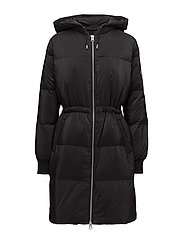 Greta Down Bomber Coat OW - BLACK