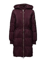 Greta Down Bomber Coat OW - WINETASTING