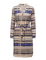 Phoebe Print Dress LW - JAPANESE STRIPE BLUE