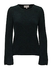 Nelli Flare Sleeve KNIT - DEEP FOREST