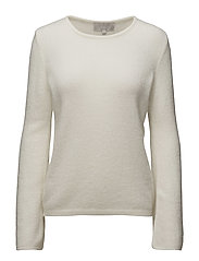 Nelli Flare Sleeve KNIT - WHITE SMOKE