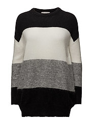 Nelli Pullover KNIT - BLACK STRIPE MIX