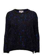 Narina Pullover KNIT - BLURRY LEOPARD BLUE