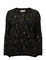 Narina Pullover KNIT - BLURRY LEOPARD GREEN