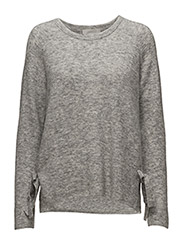 Nevis O Pullover KNIT - NEW LIGHT GREY MELANGE