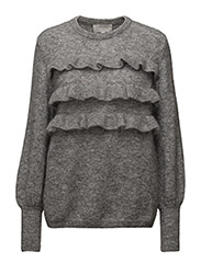 Jamal Pullover KNIT - NEW LIGHT GREY MELANGE