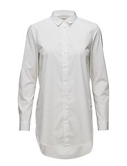 Marjorie Long Shirt LW - PURE WHITE
