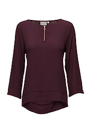 Mili Zip Blouse LW - WINETASTING