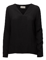 Mili V-neck Blouse LW - BLACK