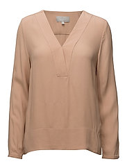 Mili V-neck Blouse LW - BLUSH POWDER