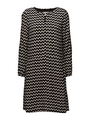 Mirabel Dress LW - IW SIGNATURE PRINT BLACK