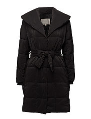 Greta Collar Coat OW - BLACK
