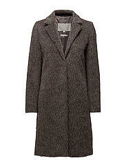 Laine Coat OW - BEIGE AND BLACK