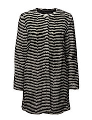 Leoma Coat OW - BLACK AND WHITE