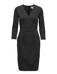 Nira Dress KNTG - DARK GREY MELANGE