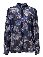 Darla Shirt LW - GINGKO LEAVES BLUE