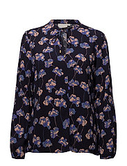 Dixie Blouse LW - GINGKO LEAVES BLUE